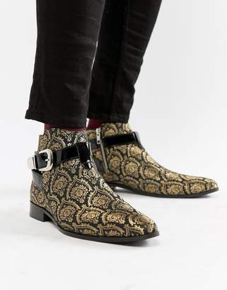 House of Hounds House Of Hounds Harpy chelsea boots in brocade