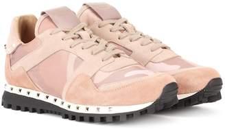 Valentino Soul Rockstud suede sneakers