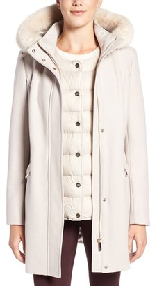 Women's Ivanka Trump Faux Fur Trim Parka With Down Puffer Vest $360 thestylecure.com