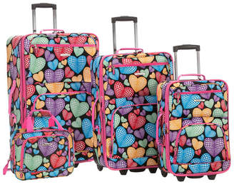 Rockland 4-Piece New Heart Luggage Set