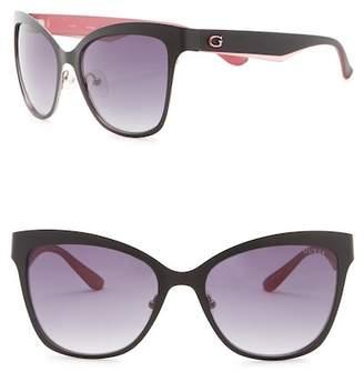 GUESS 57mm Cat Eye Sunglasses