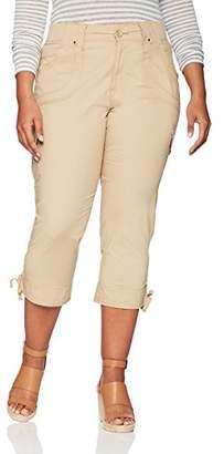 Lee Women's Plus-Size Relaxed Fit Nikki Knit Waist Capri Pant