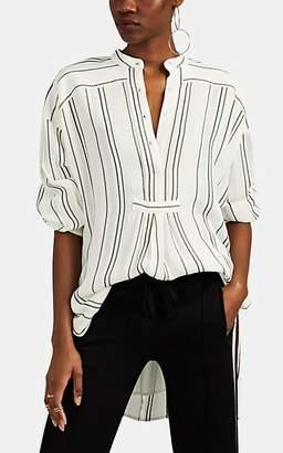Proenza Schouler Women's Striped Textured Gauze Tunic Top - White