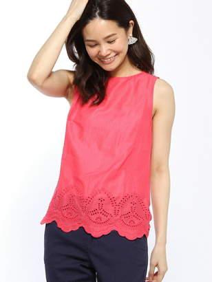(W)裾刺繍ノースリーブTシャツ・カットソー ベネトン カットソー