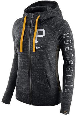 Nike Women's Pittsburgh Pirates Gym Vintage Full Zip Hooded Sweatshirt