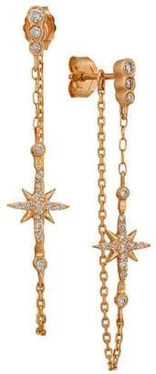 Celine Daoust Diamond Star Chain Drop Earrings