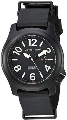 Momentum Men's Sports Watch |Steelix Nylon Adventure Watch by | IP Stainless Steel Watches for Men | Analog Watch with Japanese Movement | Water Resistant(200M/660FT)Classic Watch - / 1M-SP84B11B