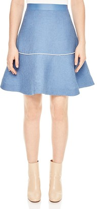 Sandro Bijou Flared Skirt $250 thestylecure.com
