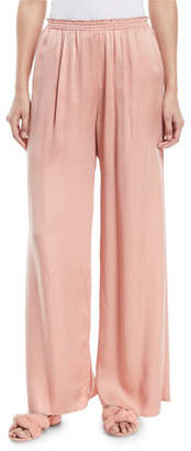 Forte Forte Wide-Leg Satin Lounge Pants
