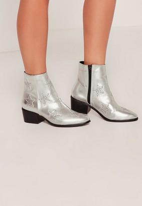 Missguided Star Studded Ankle Boots