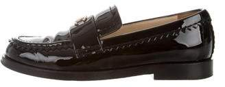 Chanel Patent Leather CC Loafers