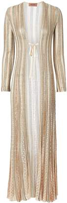 Missoni Gold Striped Lurex Duster