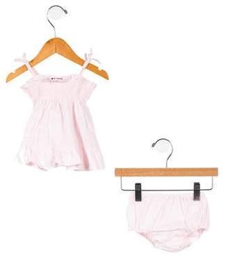 Fendi Girls' Monogrammed Two-Piece Dress Set