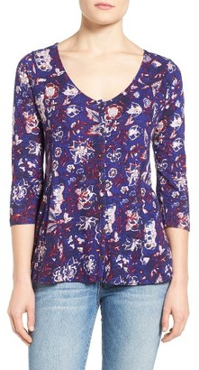 Women's Lucky Brand Floral Swing Top $49.50 thestylecure.com