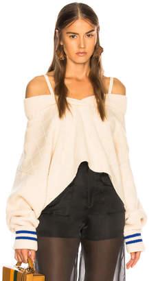 Maison Margiela Cold Shoulder Sweater