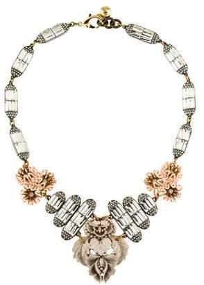 Lulu Frost Ingrid Floral Crystal Bib Necklace