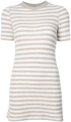 The Elder Statesman cashmere striped knitted dress