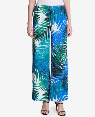 Calvin Klein Printed Wide-Leg Pants