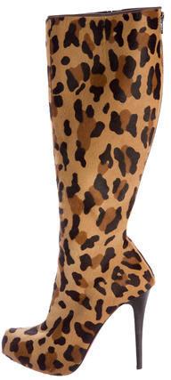 Christian Louboutin Christian Louboutin Alta Fifre Ponyhair Mid-Calf Boots