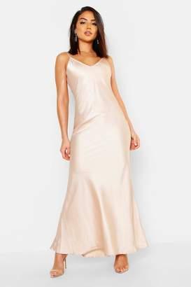 boohoo Satin Strappy Maxi Dress