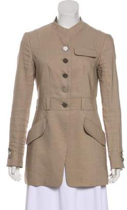 Celine Long Sleeve Wool & Linen-Blend Jacket