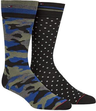 Tommy Hilfiger Men's 2-Pk. Printed Crew Socks