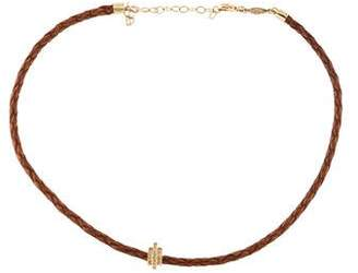 Jacquie Aiche 14K Diamond & Leather Choker Necklace