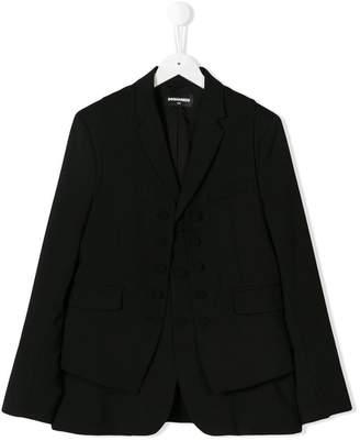 DSQUARED2 TEEN vest detail blazer