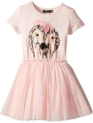 Rock Your Baby Unicorn Love Short Sleeve Circus Dress Girl's Dress