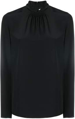 RED Valentino gathered detail turtleneck top