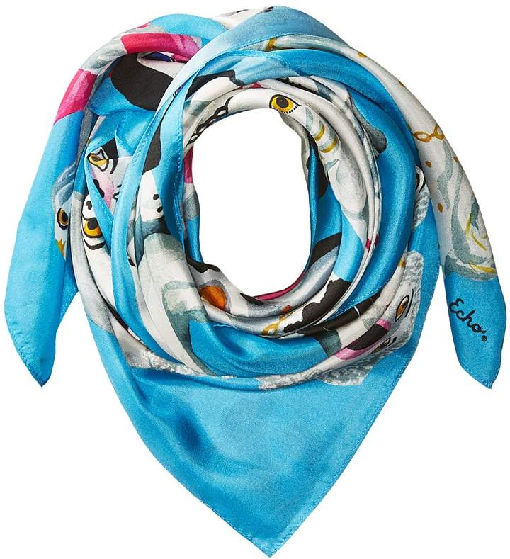 Echo Design - Staffordshire Dogs Silk Square Scarf Scarves