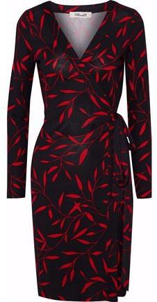Julian Printed Silk-Jersey Wrap Dress