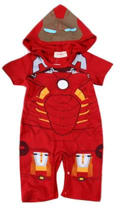 Iron Man StylesILove Baby Boy Hoodie Costume Jumpsuit (12-18 Months)
