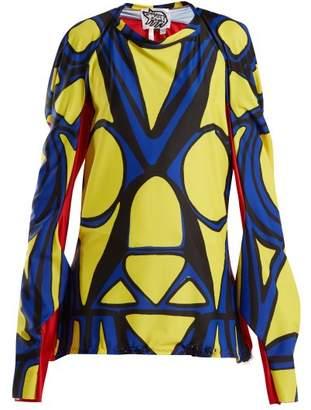 Matty Bovan - Draped Printed Top - Womens - Yellow Multi