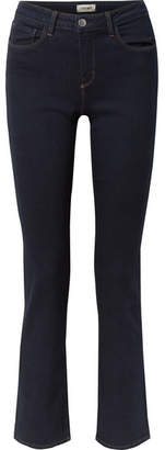 L'Agence Selah Mid-rise Straight-leg Jeans - Dark denim