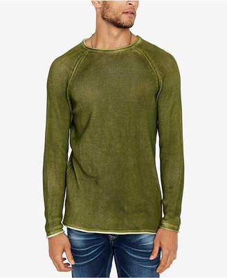 Buffalo David Bitton Men Walong Regular-Fit Loose-Knit Raglan-Sleeve Sweater