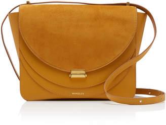 Wandler Luna Paneled Suede And Leather Shoulder Bag