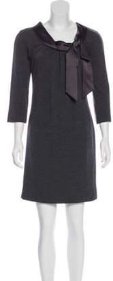 Milly Wool Mini Dress Grey Wool Mini Dress