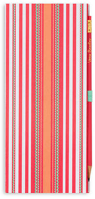 Vera Bradley Coral Serape Stripe Sticky Notepad Slim Book
