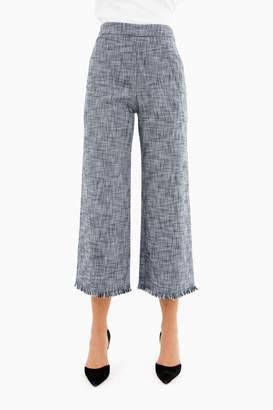 Rebecca Taylor Grey/Black Slub Suiting Pant