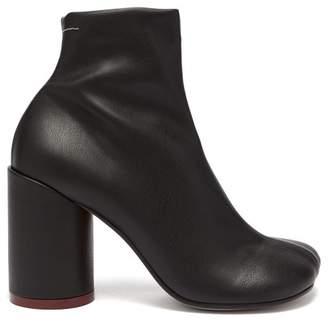 MM6 MAISON MARGIELA Heel Stamp Leather Boots - Womens - Black