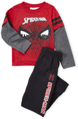 Spiderman Spider Man (Boys 4-7) Two-Piece Long Sleeve Tee and Sweatpants Set