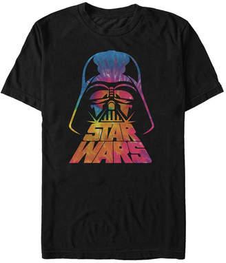 Star Wars Men Classic Tie Dye Darth Vader Helmet Short Sleeve T-Shirt