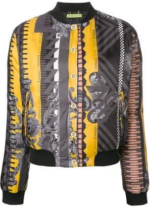 Versace multi-print bomber jacket