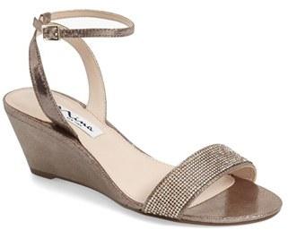 Women's Nina 'Novia' Embellished Wedge Sandal $78.95 thestylecure.com