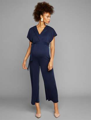 A Pea in the Pod Waist Tie Maternity Jumpsuit