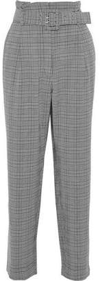 Walter W118 By Baker Daniella Belted Checked Woven Straight-Leg Pants