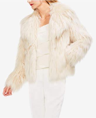 Vince Camuto Long Faux-Fur Jacket