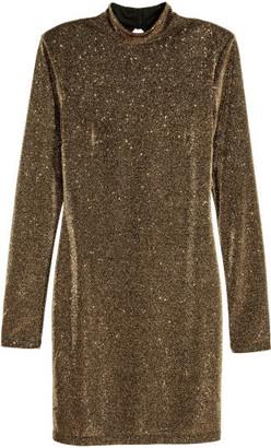 H&M Glittery Dress - Gold