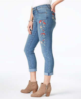 Style&Co. Style & Co Embroidered Curvy Boyfriend Jeans, Created for Macy's